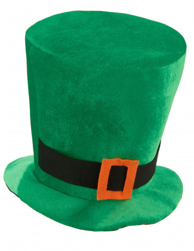 Chapéu veludo verde São Patrício