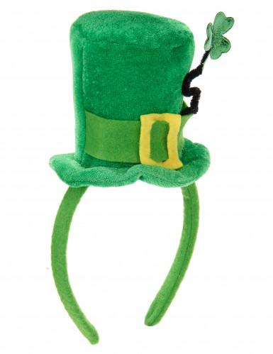 Bandolete mini chapéu trevo mulher São Patrício