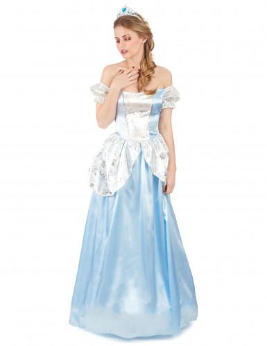 Disfarce princesa cinderela azul mulher