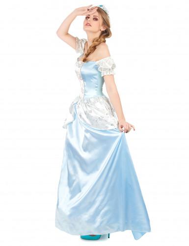 Disfarce princesa cinderela azul mulher-1