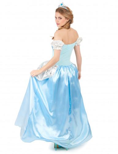 Disfarce princesa cinderela azul mulher-2