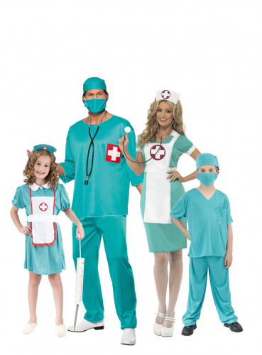 Disfarce família medicos
