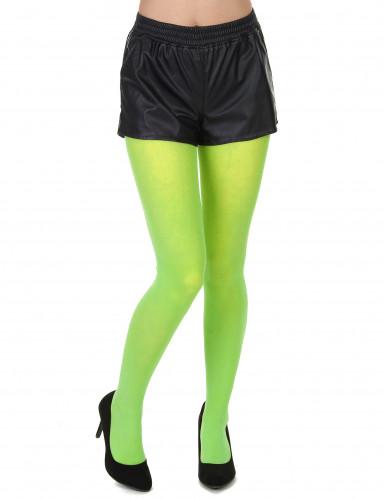 Collants verdes fluo adulto
