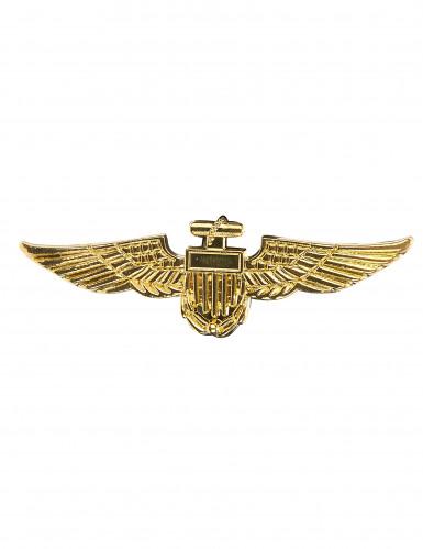 Broche dourado de piloto de avião
