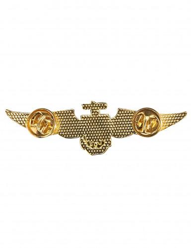 Broche dourado de piloto de avião-1