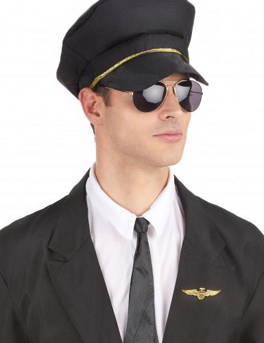 Broche dourado de piloto de avião-2