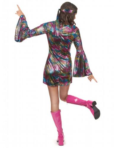Disfarce disco mulher colorido -2