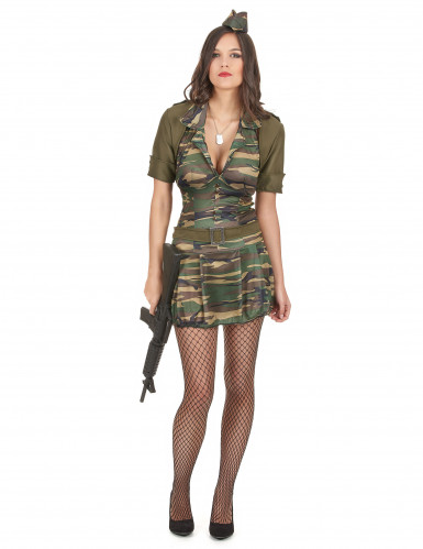Disfarce militar vestido curto mulher