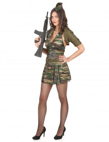 Disfarce militar vestido curto mulher-1