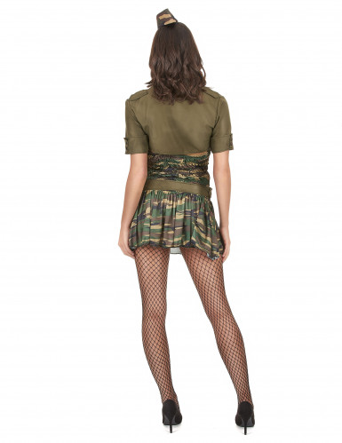 Disfarce militar vestido curto mulher-2