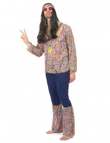 Disfarce de hippie homem psicodélico-1