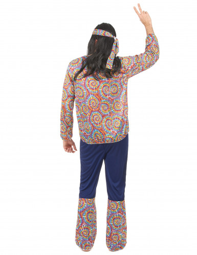 Disfarce de hippie homem psicodélico-2