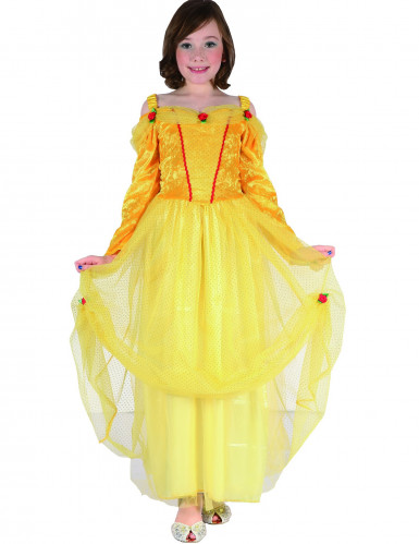 Disfarce princesa amarelo