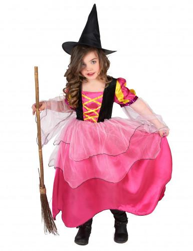 Disfrace bruxa rosa menina