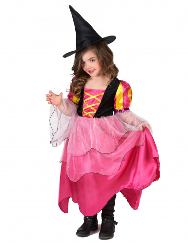 Disfrace bruxa rosa menina-1