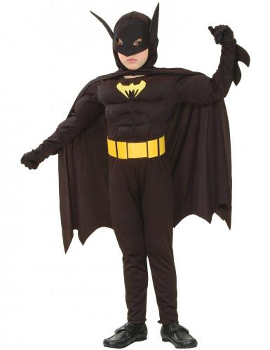 Disfarce super herói morcego menino