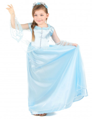 Disfarce princesa menina azul-1