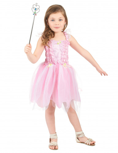 Disfarce fada cor de rosa menina