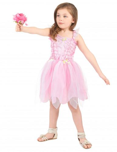 Disfarce fada cor de rosa menina-1