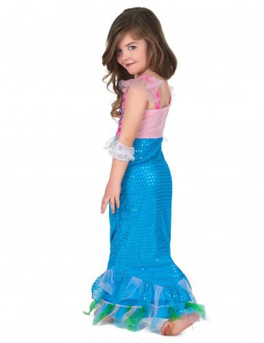 Disfarce sereia azul e cor-de-rosa Menina-2