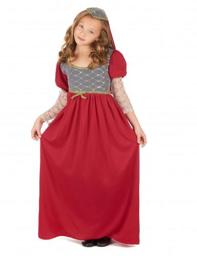 Disfarce medieval para menina
