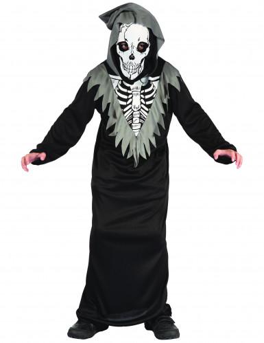Disfarce esqueleto para menino