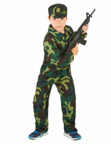 Disfarce militar menino