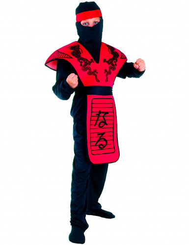 Disfarce de ninja dragão vermelho menino