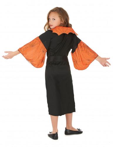 Disfarce rainha aranha laranja menina-2