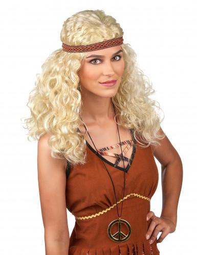 Peruca hippie loira mulher