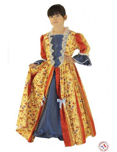 Disfarce vestido marquesa amarelo menina