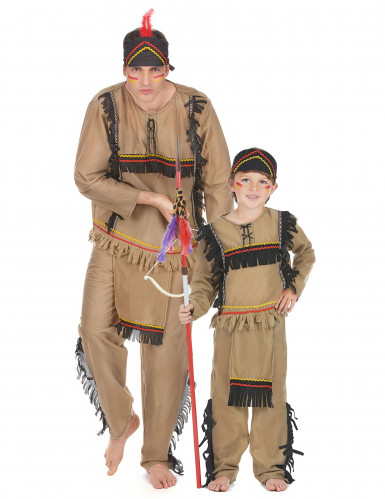 Disfarce de casal índio Pai e filho