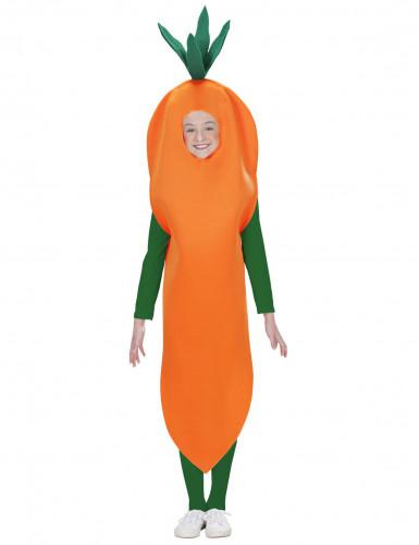 Disfarce de cenoura criança