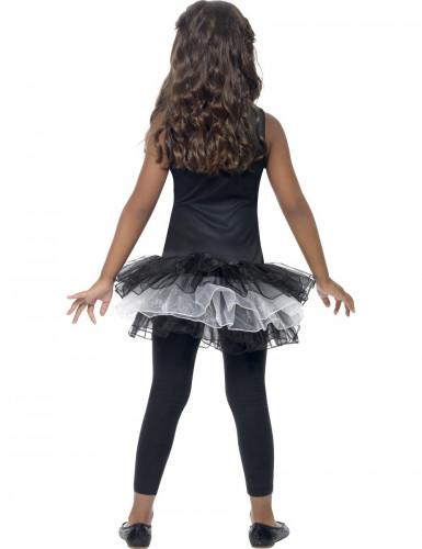Disfarce esqueleto tutu preto rapariga Halloween-2