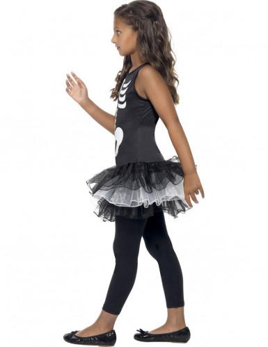 Disfarce esqueleto tutu preto rapariga Halloween-1
