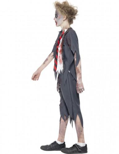 Disfarce zumbi aluno menino Halloween-1