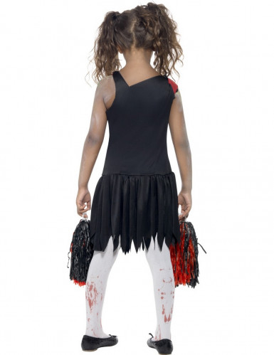 Disfarce pompom girl zumbi menina Halloween-2