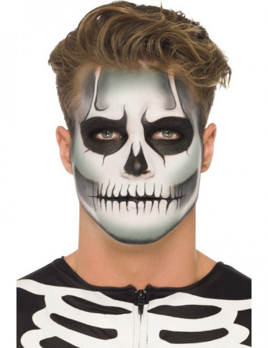 Kit maquilhagem esqueleto fosforescente adulto Halloween