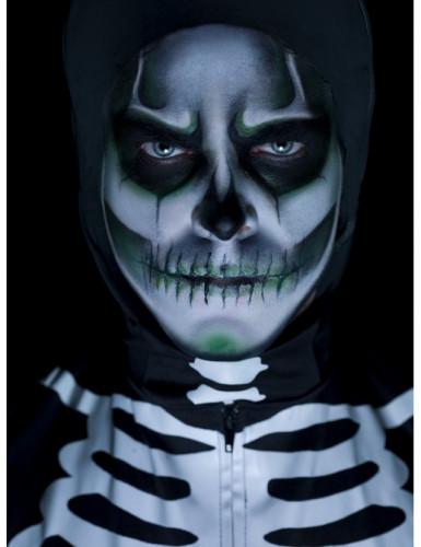 Kit maquilhagem esqueleto fosforescente adulto Halloween-1