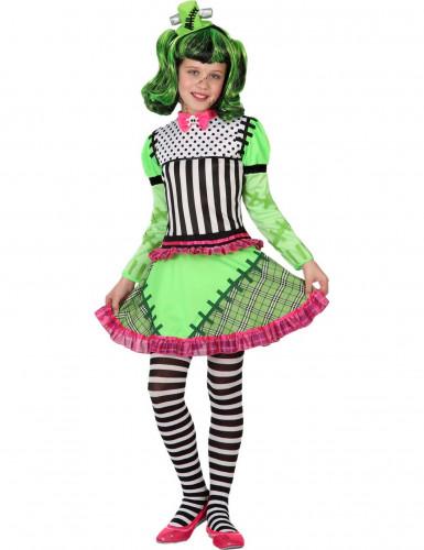 Disfarce monstro verde menina Halloween