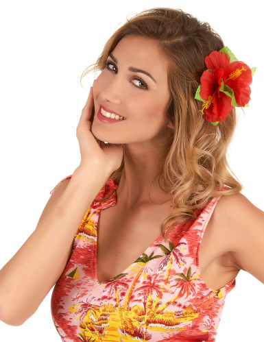 Flor havaiana vermelha havai