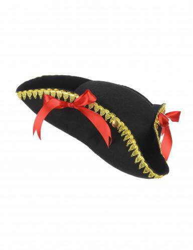 Chapéu tricorne nós vermelhos - mulher