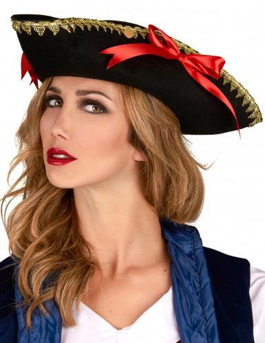 Chapéu tricorne nós vermelhos - mulher-1