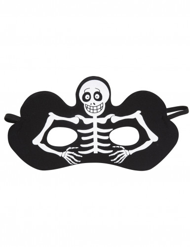 Máscara esqueleto preto adulto Halloween