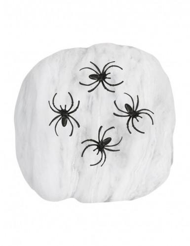 Falsa teia de aranha branca Halloween-1