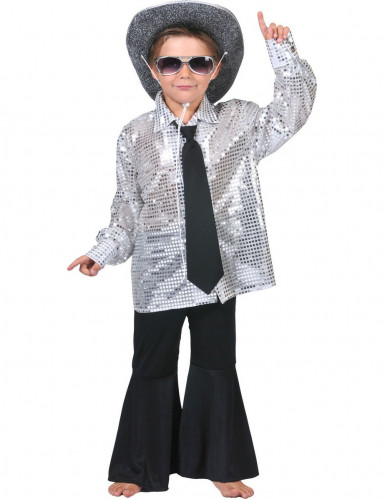Camisa disco prateada menino