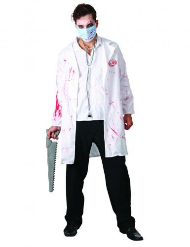 Disfarce cirurgião ensanguentado adulto halloween