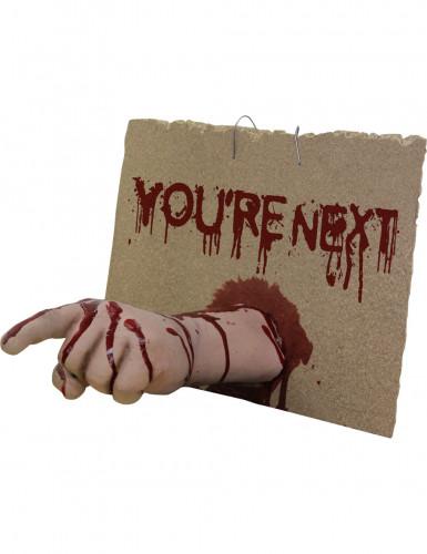 Decoração mão sangrenta you're next