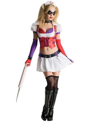 Disfarce Harley Quinn enfermeira Arkham City™ mulher