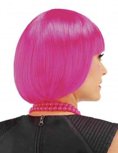 Peruca cor de rosa cabaret menina-1